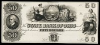 OH State Bank of Ohio $50 1840s