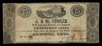 OH Adelphi J & M Fowler 25¢ May 4, 1838