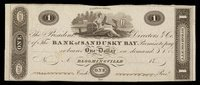 OH Bloomingville Bank of Sandusky Bay $1 ca 1818