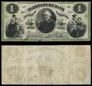 PA Harrisburg Harrisburg Bank $1 Sept 7 1861