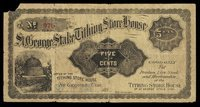 UT St George St G. Stake Tithing Store House 5¢ 1895