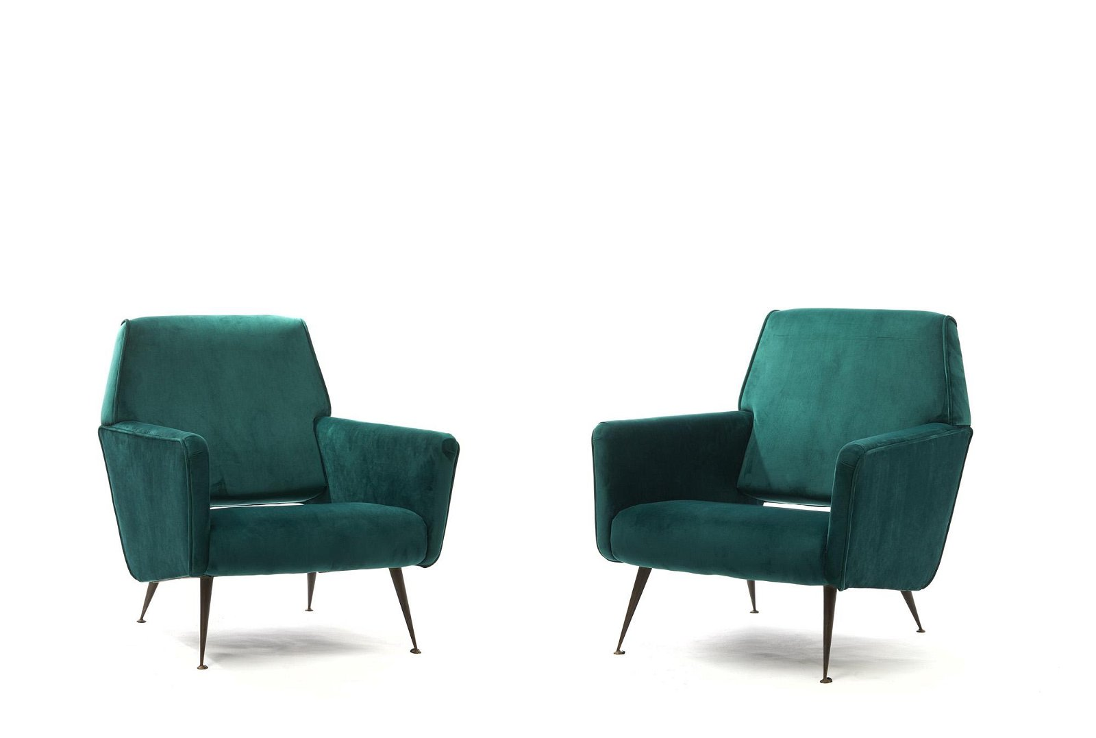 Minotti (attributed), pair of small armchairs