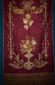 Silk fabric with floral motifs