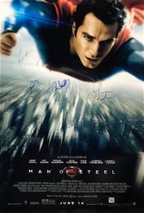 DC Man of Steel Henry Cavill Amy Adams Autographed