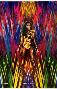 Wonder Woman 1984 Autographed Signed Poster