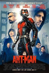Marvel AntMan Paul Rudd Evangeline Lilly Autographed