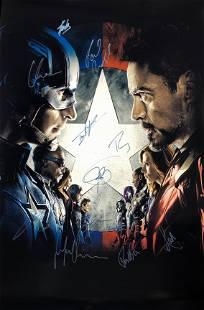 Marvel Captain America Civil War Poster A Autographed