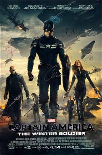 Captain America Winter Soldier Poster B Autographed