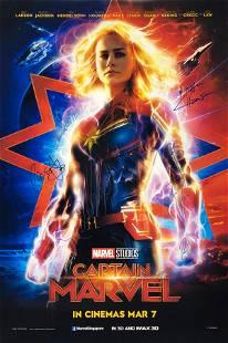 Captain Marvel Poster A Autographed Signed Brie Larson