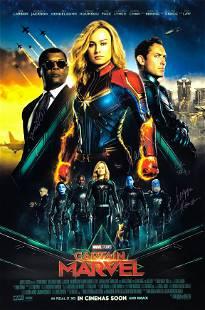 Captain Marvel Poster B Autographed Signed Brie Larson