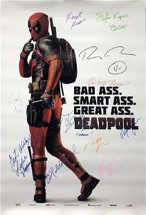 Deadpool Ryan Reynolds Autographed Signed Poster