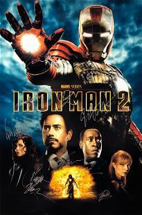 Iron Man 2 Poster B Robert Downey Jr Autographed