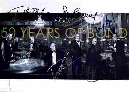 50 years of James Bond 007 Daniel Craig Sean Connery