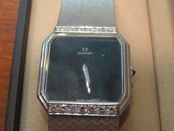 12: 1 PC  OMEGA  WINDING GENT'S WATCH WITH DIAMOND