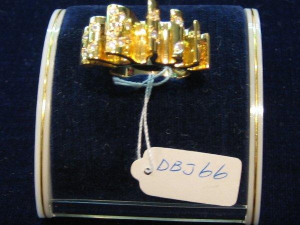 21: 1 PC 18 KT GOLD DIAMOND RING
