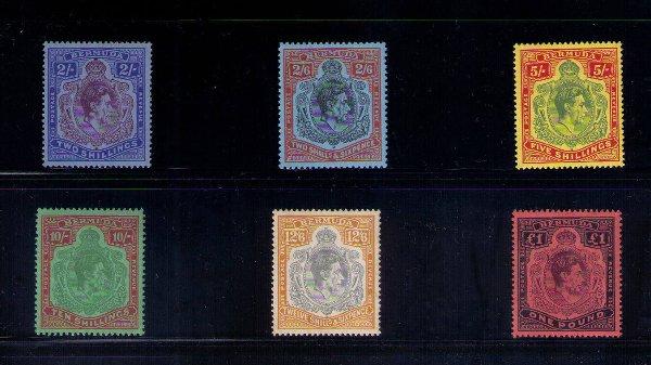 46: Stamps – Bermuda, 6 King George VI stamps