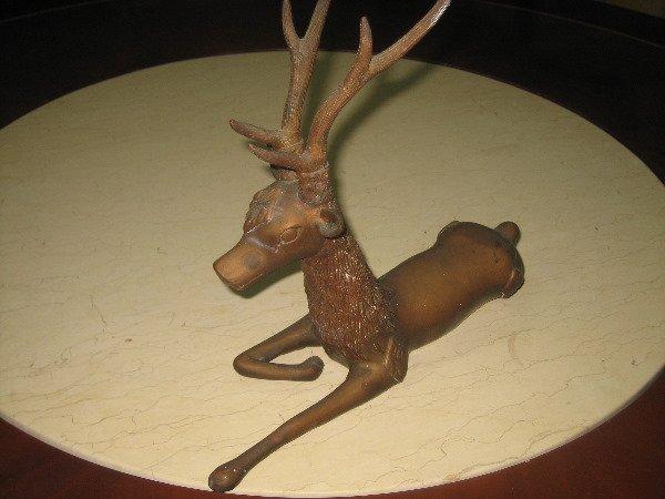 59: Deer copper sculpture