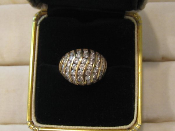 91: 1 PC 14 KT GOLD DIAMOND RING