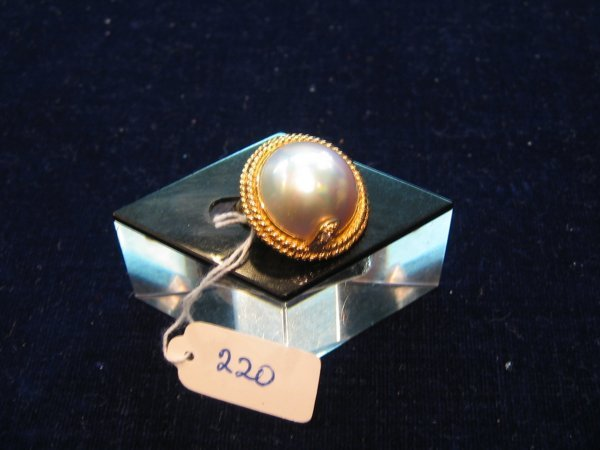 100: 1 PC 18KT GOLD MABE RING