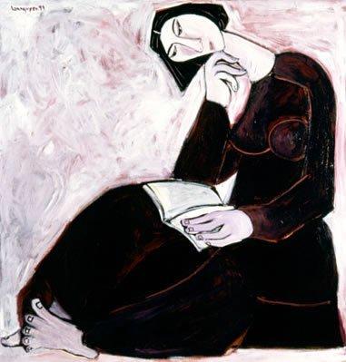 160: Asian Vietnanese oil painting origional