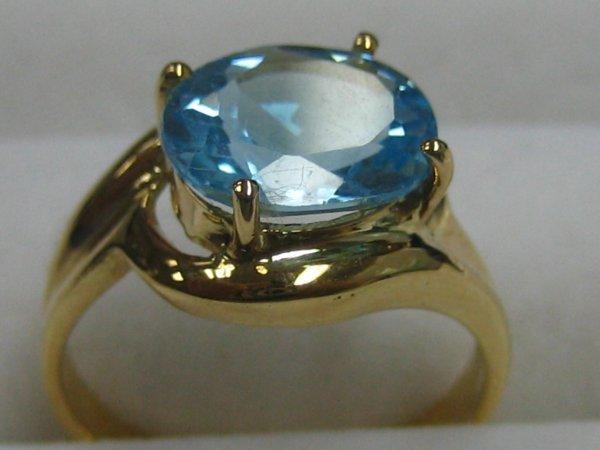 166: Blue Topaz 14K Y.G Ring