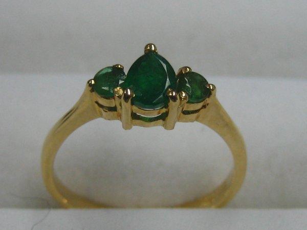 169: Three emerald Ring