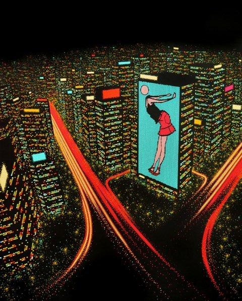 7: Dot-city lights