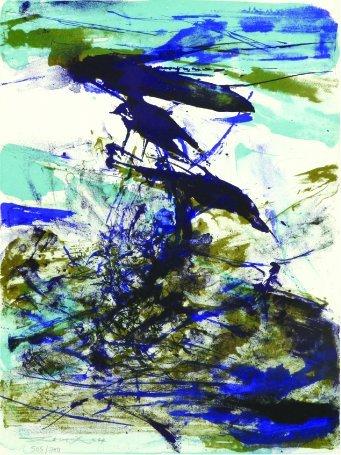 9: Zao Wou Ki, Print, 505/700 ,30.9x22.6cm, 1967