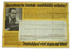 PROPAGANDA - DIE PAROLE DER WOCHE POSTER - ANTI-SEMITIC