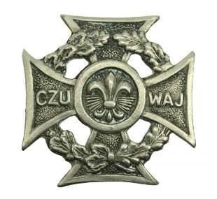 Polish Male Scout Cross Badge 1935