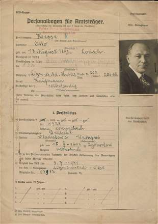 RLB Inscription File of a German Man From Lodz
