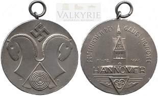 Silver commemorative medal Hannover 1936.