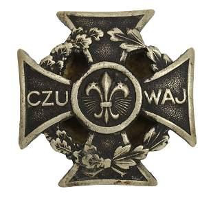 Polish Male Scout Cross Badge 1931