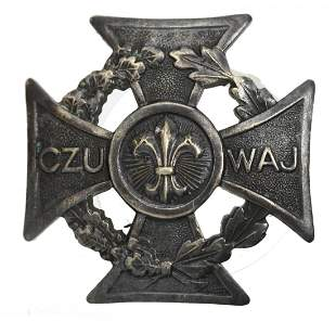 Polish Male Scout Cross Badge Before WWII