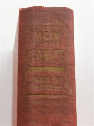 "Adolf Hitler's ""Mein Kampf"" in its English version 1939"
