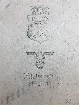 Metal Plate From Officers Home in Berlin