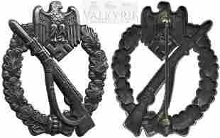 "Rare Infantry Assault Badge in Silver ""JFS""."