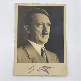 Adolf Hitler Signed Portrait Postcard