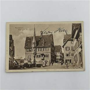 Adolf Hitler Early Signed Postcard