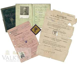 Document Set to Pole who Was Forced Laborer in Stalag