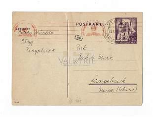 Very Rare Postcard From Stryj Ghetto to Rabbi Stern