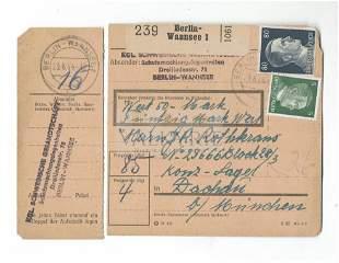 Money Order Receipt to KL Dachau Dutch Priest Prisoner