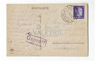 Very Rare Postcard From Salaspils Concentration Camp