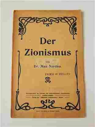 """Rare book """"Der Zionismus"""" by Dr, Max Nordau"""