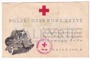 Polish Red Cross a greeting card added to prisoners1941