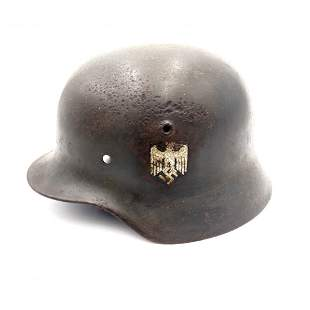 German WWII Wehrmacht Helmet Owner Signed