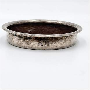 ADOLF HITLER SILVER COASTER BY WELLNER
