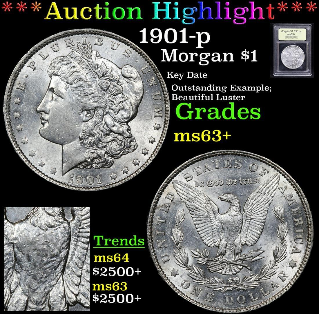 ***Auction Highlight*** 1901-p Morgan Dollar $1 Graded