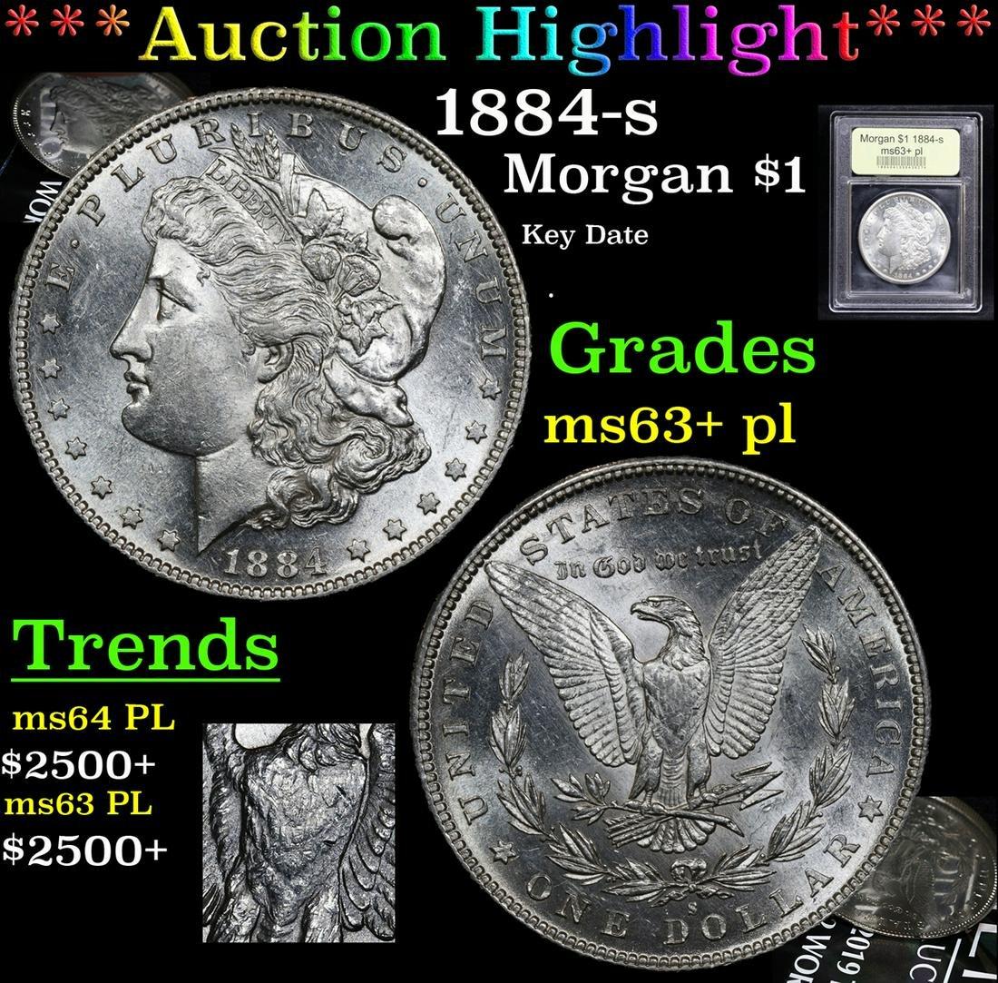 ***Auction Highlight*** 1884-s Morgan Dollar $1 Graded