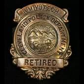 Vintage Cleveland Police Department Retired Badge